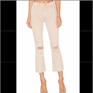 MOTHER Insider Crop Fray Distressed Jeans 24